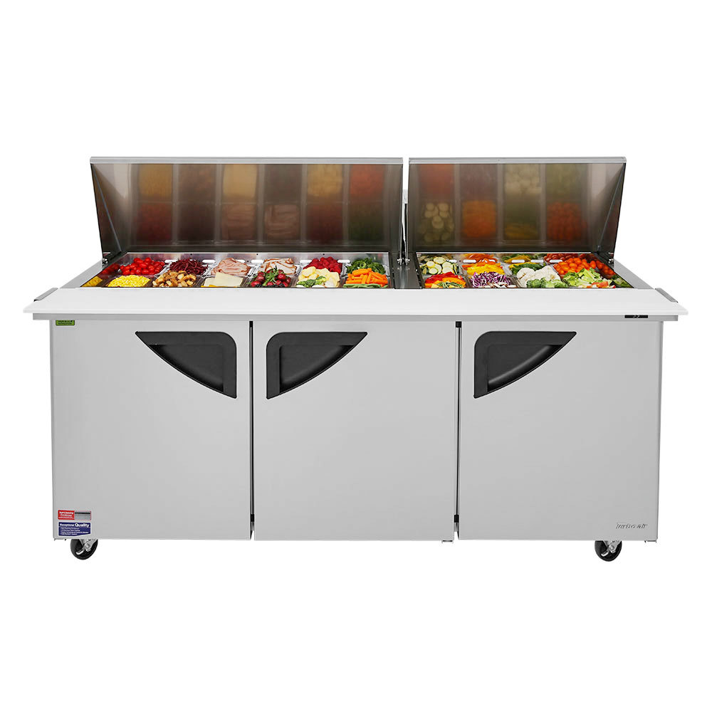 Turbo Air Super Deluxe  Food Prep Table  72  Mega Top Unit
